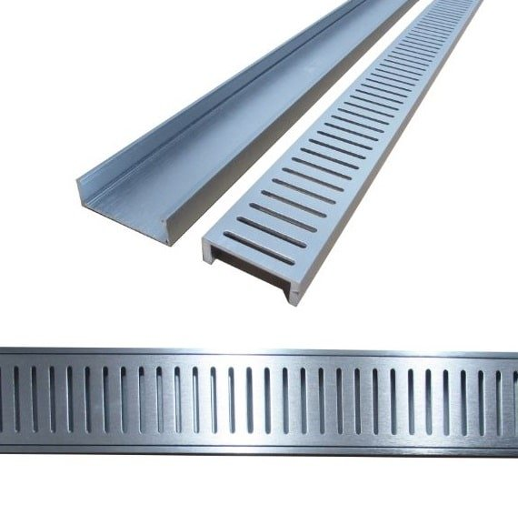 Aluminium Floor Grate 100mm x 900mm Custom Made at No Extra Cost - Aluminium Floor Grate 100mm x 900mm