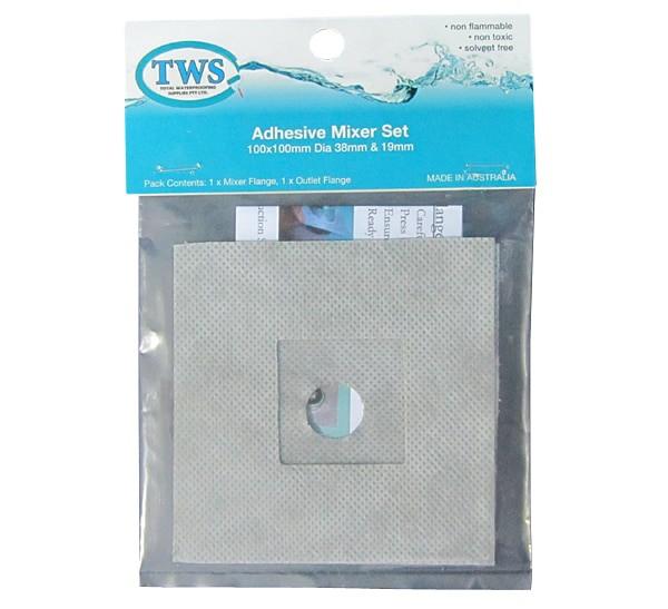 Adhesive Flange Mixer Set Square - Adhesive Flange Mixer Set Square