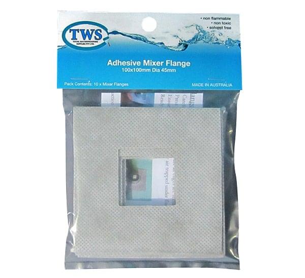 Adhesive Flange Mixer Square Pkt 10 - Adhesive Flange Mixer Square Pkt 10
