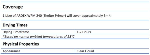 Ardex WPM 240 Shelter Primer 20L - Ardex WPM 240