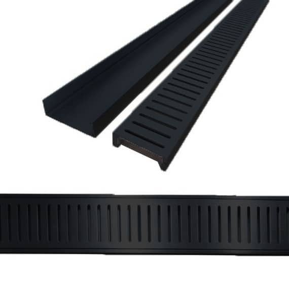 Aluminium Floor Grate 100mm x 5.6m - Black - Aluminium Floor Grate 100mm x 5.6m