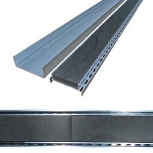 Aluminium Slimline Tile Insert Grate 100mm x 1000mm Custom Made at No Extra Cost - TWS WM12 Waterproof Membrane
