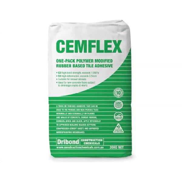 Cemflex Flexible Rubber Adhesive 20kg - Cemflex