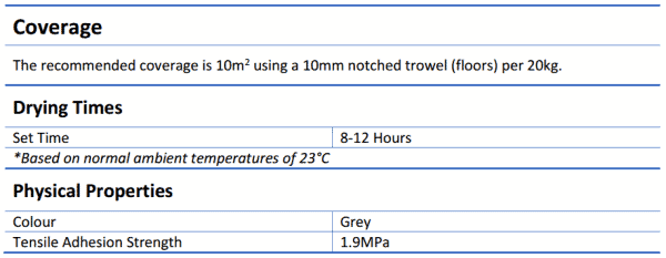 Monoflex Flexible Cementious Adhesive 10kg or 20kg - Monoflex