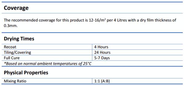 Ultraseal Vapour Barrier 4 Litre Kit - Ultraseal Vapour Barrier 4 Litre Kit
