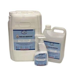 Nano Safe Innovations 90 Day Coating - Nanova Hygiene+ - Adhesive Flange Shower Set